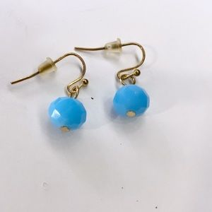 Shorts blue dangle earrings